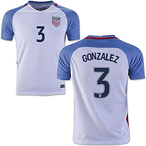 2016 Copa America USA Home Soccer Jersey #3 Gonzalez Youth's Football Jersey ()
