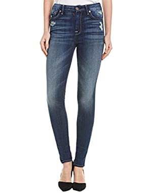 7 For All Mankind Women's the Hw Skinny in Icelandic Blue