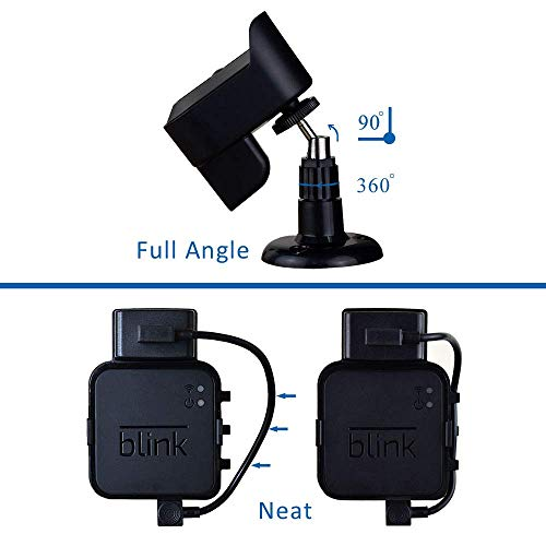 Blink XT2 Camera Mounts for Blink XT/Blink XT2 Home Security Camera, Blink XT2 Accessories with 3 Pack Blink Mount Bracket for Blink Camera and 1PC Blink Sync Module Wall Outlet Mount, Easy to Use
