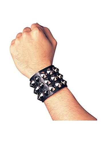 Studded Wristband Triple Halloween (Band Halloween Costumes)