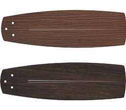 Kichler Lighting 371015 Climates Wet Location All-Weather ABS Blade Set, Reversible Dark Walnut/Light Walnut