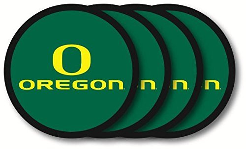University of Oregon Ducks Vinyl Coaster Set (4) New in Package by Duckhouse - Autographed Packages