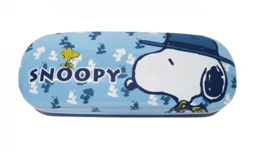 Brillenetui für Kinder Snoopy Peanuts blau nasenfahrrad24.de