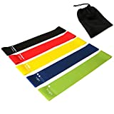 BODENSEE Resistance Loop Bands,Exercise Bands for Legs and Butt,Glutes,Crossfit,Latex Workout Fitness Mini Bands,Flexbands Physical Therapy Pilates Yoga,Strength Training,Set of 5
