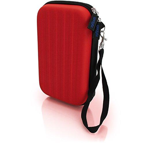 igadgitz Rot EVA Hart Tasche Schutzhülle fur Neu Nintendo 3DS 2015 Etui Case Cover mit Tragegurt