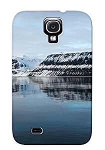 Catenaryoi Rugged Skin Case Cover For Galaxy S4- Eco-friendly Packaging(snow Covered Mountains)