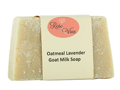 Goat Milk Soap Handmade USA Natural Bar Vitamins Nutrients for Soft Skin, Wrinkles, Psoriasis, Eczema (1 Bar, Oatmeal (Oatmeal Bar Recipe)