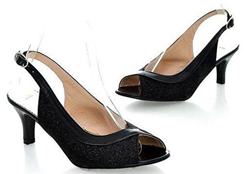 Black Women Shoes IDIFU Stiletto Sandals Heels 86nqSX