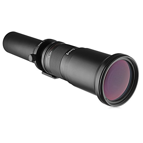 Opteka 650-1300mm (with 2X- 1300-2600mm) Telephoto Zoom Lens