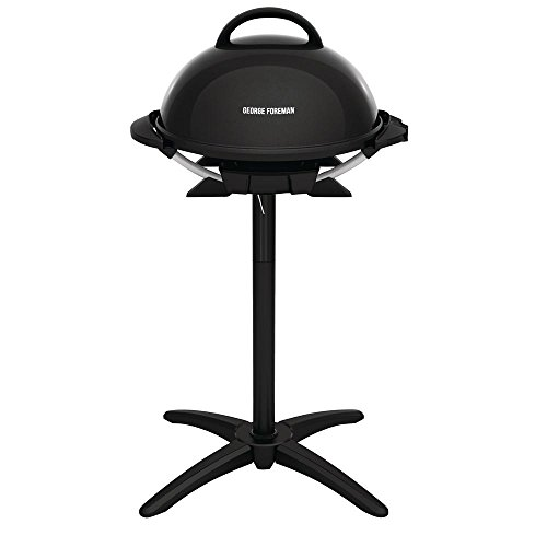 George Foreman 15-Serving Indoor/Outdoor Electric Grill, Black