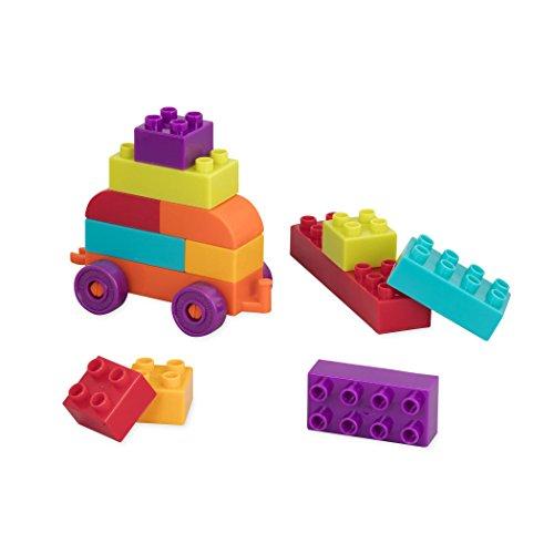 41SAIyXqWkL - Battat - Locbloc Wagon - Building Toy Blocks for Toddlers (54 pieces)
