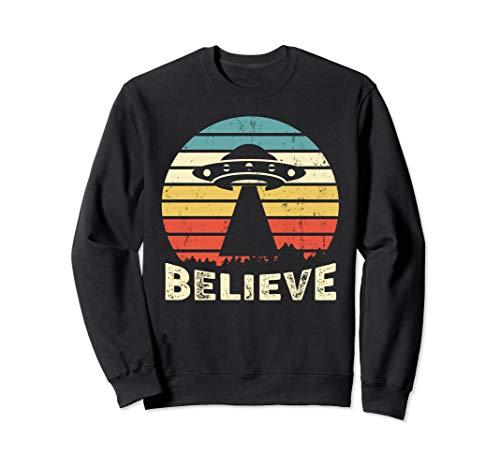 Vintage Alien UFO Hunter Sweatshirt I Want To Believe Shirt