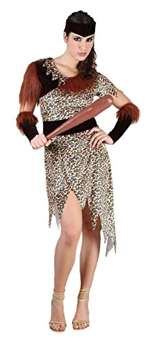 Rimi Hanger Womens 10000 BC Costume Ladies Prehistoric Dress Cave Fancy Dress Party Outfit One Siz US 4-10