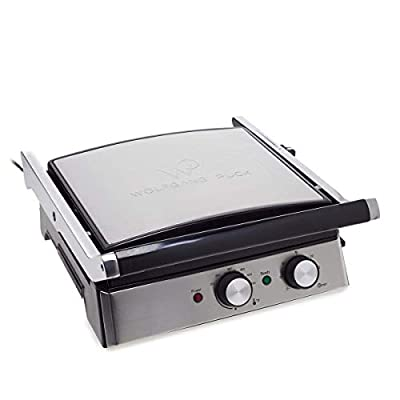 Wolfgang Puck 6-in-1 Reversible Contact Grill and Griddle w/Recipes (Certified Refurbished)
