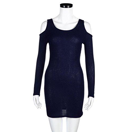 Damen Schulterfreies Kleider TPulling Frau Mode Einfarbig Bedrucktes ...