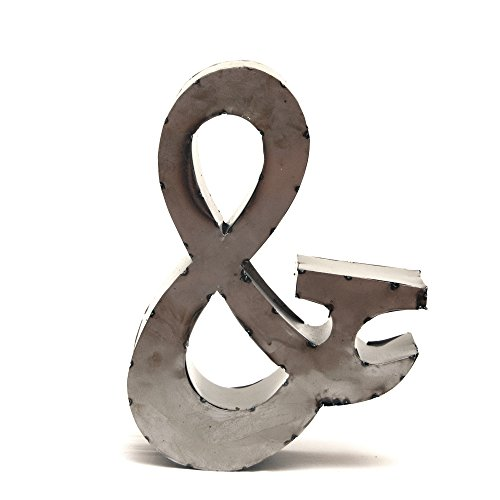 Rustic Arrow Ampersand Sign for Decor, 14-Inch, Brown