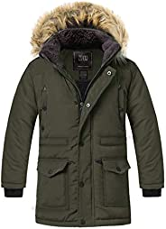 ZSHOW Boys Winter Cotton Padded Jacket Hooded Kids Outerwear