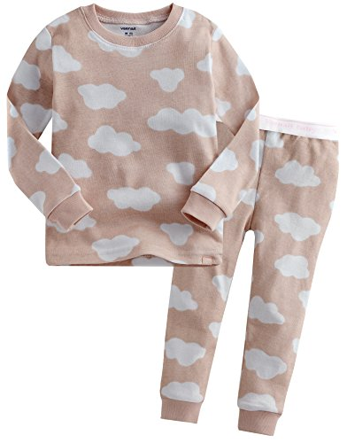 Vaenait baby Toddler Kids Little Boys Girls Unisex Sleepwear Pajamas Pjs Top Bottom 2 Pieces Set