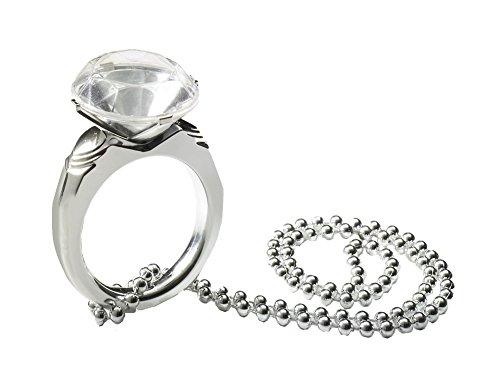 Bachelorette Jumbo Diamond Ring On A String Of Beads 16