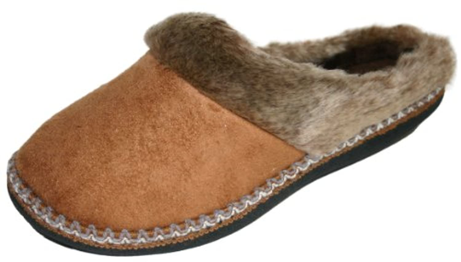 Ladies Girls Coolers Premier Clog Fur Lined Mule Slippers Sizes 4 - 8 (4 UK, Tan)