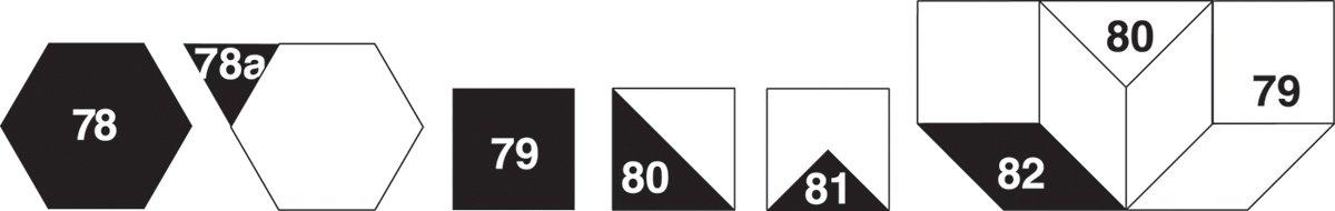 Marti Michell Perfect Patchwork Template Set N Mini Geometrics 5/Pkg