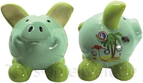 Swiggie Con forma de cerdo cerditos de la suerte de vacaciones de diseño de caja registradora Hucha con diseño de 8,5 cm 13 cm 15,5 cm, 08,5 cm: Amazon.es: Hogar