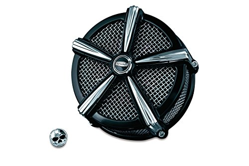Kuryakyn Black and Chrome Hi-Five Mach 2 Air Cleaner for Harley 2007-2016 XL883 ()