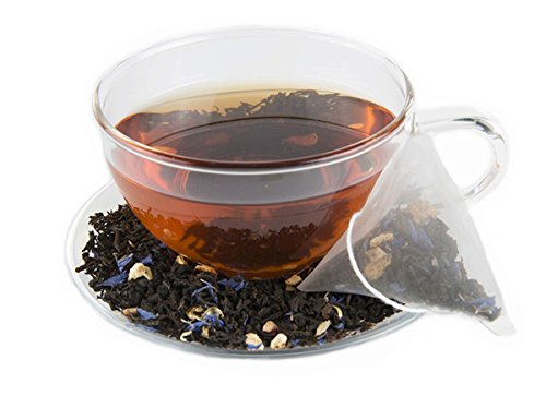 Energy Tea Sampler Pack - High Caffeine Apple Cinnamon, Citrus Hibiscus, Earl Grey Black Teas, Pomegranate Mojito Green Tea - 150 Mg of Caffeine Per Bag (60 Tea Sachets)