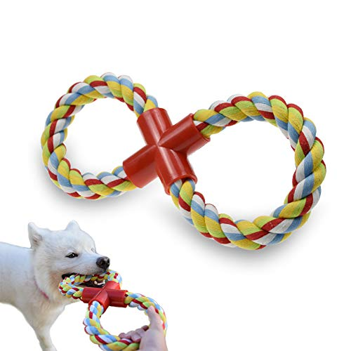 LECHONG Dog Rope Toy for Aggressive Chewers, 8-Shaped Durable Dog Training Toys for Large Dogs, Upgrade Indestructible Tug of War Dog Toys for Teething Chewing and Playing