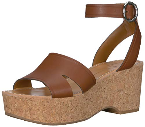 - Dolce Vita Women's Linda Wedge Sandal brown leather 5 M US