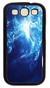 Abstract Colorful Blu-ray PC Case Cover For Samsung Galaxy S3 SIII I9300 Black