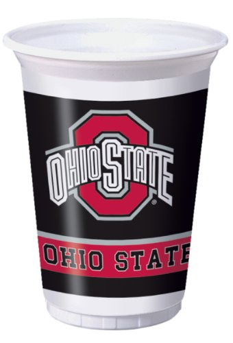Creative Converting Ohio State Buckeyes 20 oz. Plastic Cups, 8-Count]()