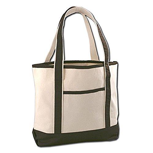 Canvas Beach Tote Bags (Chocolate) -