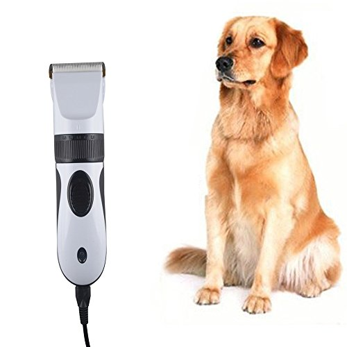 TurnRaise Pet Hair Trimmer Clippers Grooming Clipper Shave +4 Piece Comb Kit for Pet Grooming - Dog/Cat/Rabbit Electric Pet Hair Clipper Trimmer Shaver for Pet Grooming Hair Cutting Machine to Haircut (Cut Hair Machine For Dogs compare prices)