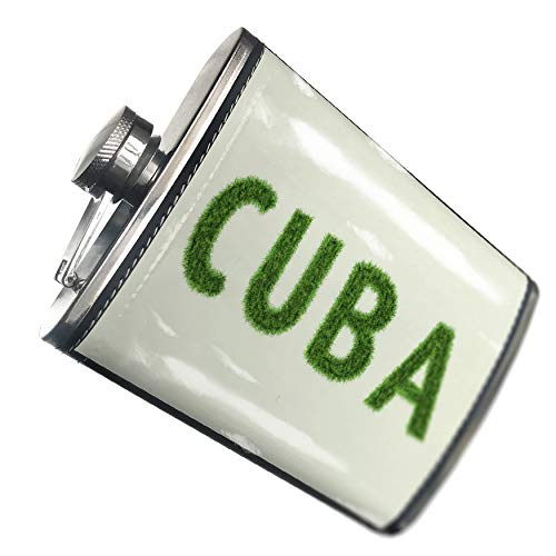 - NEONBLOND Flask Cuba Soccer Field Grass Hip Flask PU Leather Stainless Steel Wrapped