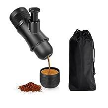 Portable Hand Held Espresso Maker ,Bnest Mini Manual Pressure Caffe Espresso Machine,No Battery,No Electronic Power,Portable for Home,Office,Travel,Outdoor,BLACK