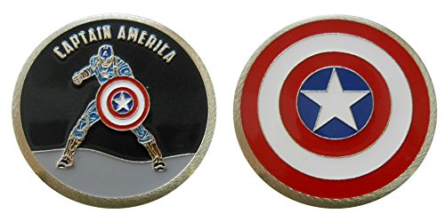 Captain America - Character Collectible Challenge Coin / Logo Poker / Lucky (America Coin)