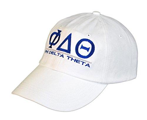 (Greekgear Phi Delta Theta World Famous Line Hat White)
