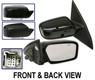 Kool Vue FD122ER Mirror Corner mount Type Passenger Side RH Plastic Primered Power With cap(s) Heated