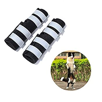 WUXIAN Dog Rear Leg Braces,Dog Knee Brace with Safety Reflective Straps for Injury and Sprain Protection,Wound Healing and Loss of Stability from Arthritis