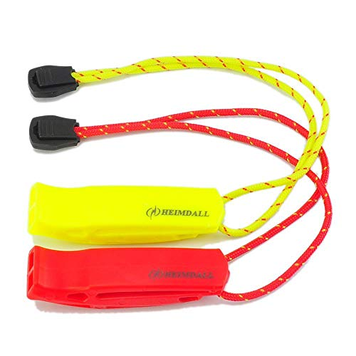HEIMDALL Safety Whistle with Lanyard (2 Pack) for Boating Camping Hiking Hunting Emergency Survival Rescue ()