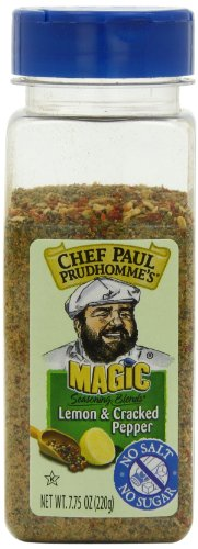 Seasoning Salt Free Pepper - Chef Paul Prudhomme's Magic Seasoning Blends No Salt & No Sugar, Lemon and Cracked Pepper, 7.75-Ounce