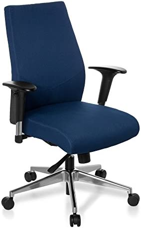 Amazon Com Hjh Office Pro Tec 250 608710 Office Swivel Chair Dark Blue Home Kitchen