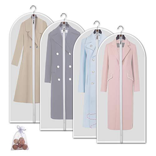 3bdf84df599 allhom Garment Bags for Dresses - Set of 4 pcs 60 inch Hanging Clothing  Storage Bags