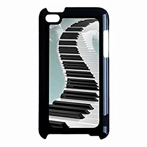Ipod Touch 4th Generation Cell phone Case,Creative Fashion Design Musical Instruments Piano Keys Phone Case Cover for Ipod Touch 4th Generation Piano Special