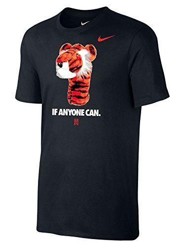 NIKE TW Tiger Woods Graphic Frank Tee Shirt If Anyone Can (Medium, (Tiger Graphic T-shirt)