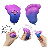 Midress Temperature Color Change Squishies Jumbo Toys,Kawaii Cute Big Feet Squishy Slow Rising Jumbo Squishies Toy Scented Squeeze Toy for Adult Party (Random)