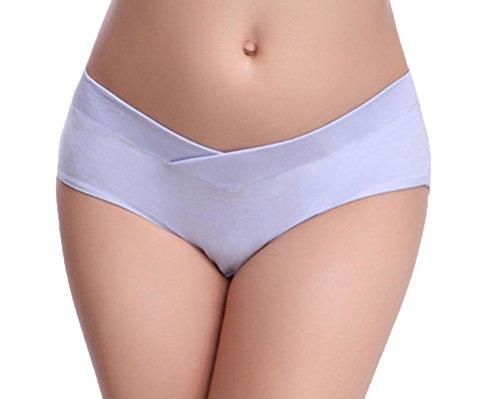 Feicuan Braguitas para Maternidad de las Mujer Embarazadas Low Waist Underpants Soft Algodón Underwear (Pack of 3) Purle,Yellow,Skin