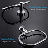 APLusee Hand Towel Ring Chrome, Stainless Steel