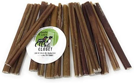 Sancho Lola s Bully Sticks for Dogs Moderate Odor High-Protein Grain-Free Beef Pizzle Dog Chews
